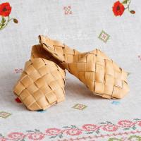 Ступни (тапки, шлёпанцы) плетеные, размеры 32-45