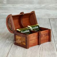 Сундучок, коробка под чайные пакетики 2 отделения